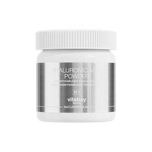 Acido ialuronico da 20 g, con 7% di acido ialuronico puro in polvere