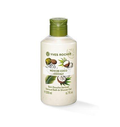 Yves Rocher – Bagno doccia al cocco – 200 ml: goditi il sensuale profumo della noce di cocco durante una doccia o un bagno.