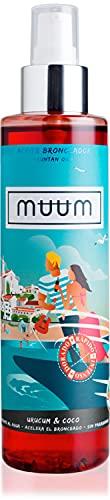muum - Olio abbronzante Urum e Cocco - Acceleratore dell'abbronzatura con antiossidanti naturali, idrata e previene le imperfezioni e le rughe - Abbronzatura in un tono naturale e dorato - 200 ml.