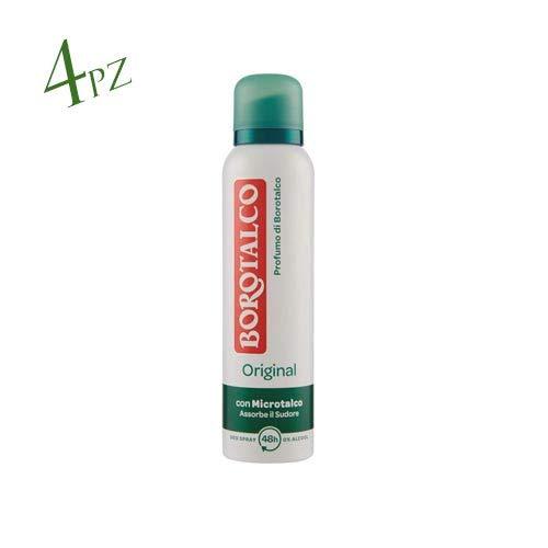 4X Borotalco Roberts Deo Spray deodorante original fresh 150ML SENZA ALCOOL