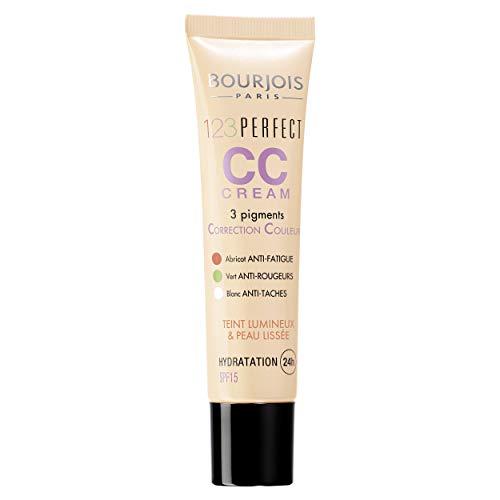 Bourjois CC Cream 1, 2, 3 Perfect, Crema Viso Colorata Correttiva e Idratante Oil-free, SPF 16, 32 Light Beige