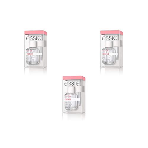Essie Cresci più forte Base solidificante + Essie Gel Couture Smalto per unghie 20 spolverami oltre 13,5 ml Nudo + Essie Quick-e goccia asciugante Top coat.