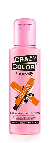 Crazy Color Crema Colorante Vegetale per Capelli , Orange n.60 – 100ml