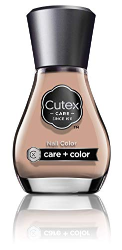 Cutex Nail Color Smalto Unghie Idratazione e Nutrimento, con Vitamina B e Olii Naturali, Colore Beige Tanned On The Sand n° 350-13.6 ml