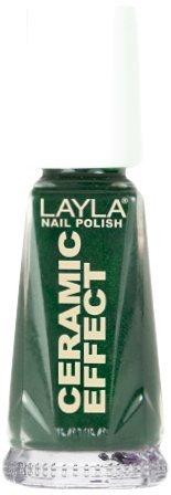 Smalto Layla Ceramic Effect N.10 Green Fever Nail Polish by LAYLA COSMETICS