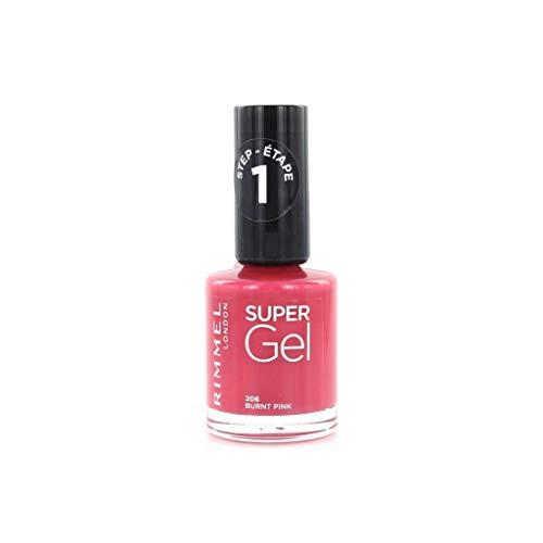 Rimmel Smalto Super Gel Colore 206 Burnt Pink, 12ml