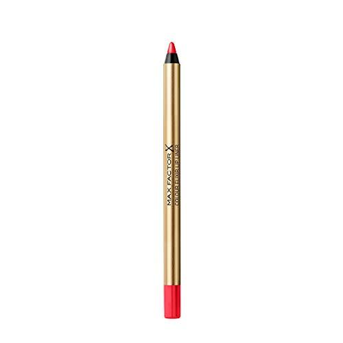 Max Factor Colour Elixir Lip Liner Matita Labbra, Lunga Durata, 10 Red Poppy, 1.2 g