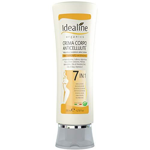 Crema Anticellulite Professionale BIO - Crema Rassodante Corpo ULTRA INTENSIVA 7in1 Idealine 200 ml