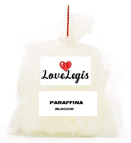 Paraffina Wax Solida per Candele - Cera in Blocchi - 1Kg Idea Regalo Natale Compleanno Festa