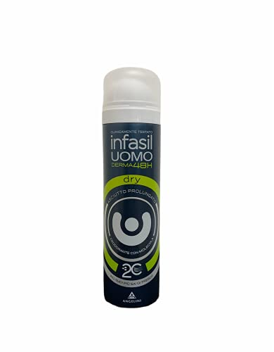 Set 6 INFASIL Deodorante Spray Uomo Dry Ml 150 Cura E Igiene Del Corpo