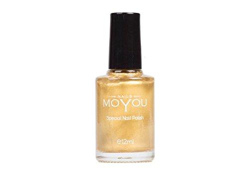 Lo smalto originale MoYou Nails color Oro speciale per Stamping utilizzato per creare splendidi disegni e Nail Art acquistabile direttamente dal distributore.
