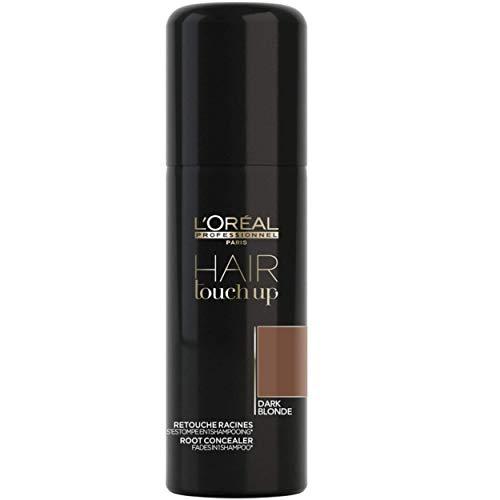 L'Oréal Professionnel Paris Hair Touch Up, Spray professionale per ritocco colore di capelli e radici, Biondo Scuro - 75 ml