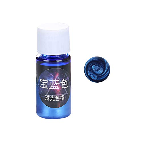 Senoow - Polvere di pigmento perlescente in resina epossidica UV, per gioielli fai da te, ciondoli, artigianato, accessori, 12 colori