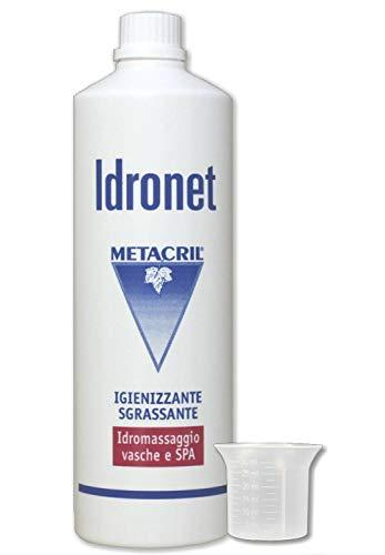 Metacril Idronet 1 LT + Bicchierino dosatore. Igienizzante e Sanificante per Vasca IDROMASSAGGIO(Teuco, Jacuzzi, Albatros, Novellini, Hafro, Glass, ECC.) - Spedizione IMMEDIATA