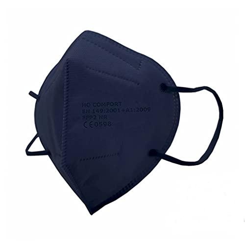 SALO MED 20 Mascherine FFP2 BLU Navy – Certificate CE - Confezionate Singolarmente – Mascherina 5 Strati – Protezione con filtraggio BFE 99% - Box 20pz