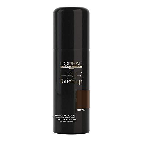 L'Oréal Professionnel Paris Hair Touch Up, Spray professionale per ritocco colore di capelli e radici, Marrone- 75 ml