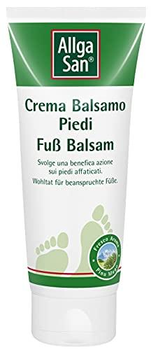 Crema piedi rinfrescante con olio di pino mugo. Migliora il microcircolo e defaticante piedi. AllgaSan Crema Balsamo Piedi 100ml
