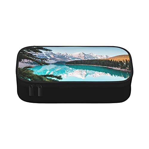 Foliage Jungle Misty Mountains Waterside River Travel Hanging Toiletry Wash Bag Organizzatore cosmetico per donne ragazze bambini impermeabile