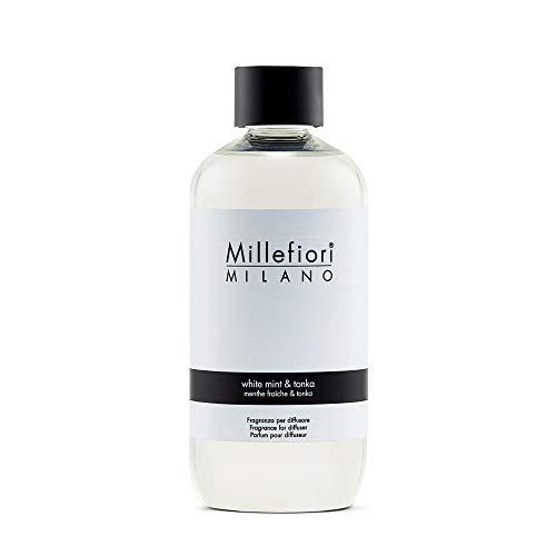 MILLEFIORI Ricarica Per Diffusore A Bastoncini White Mint Tonka 250Ml