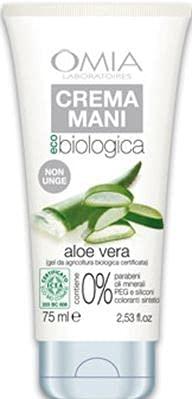 Set 12 OMIA Ecobio Crema Mani 75 Aloe Cura Della Pelle