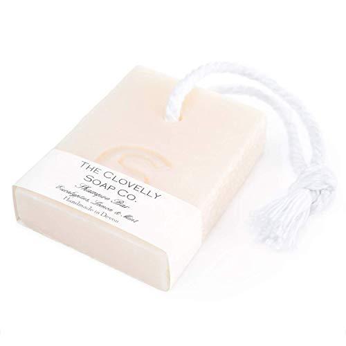 The Clovelly Soap Co. Saponetta Shampoo Solido Naturale con cordino all'Eucalipto, Limone e Menta Sapone Corpo e Capelli per Tutti i Tipi di Pelle & Capelli, Sapone Fatto a Mano, Vegano, 100g
