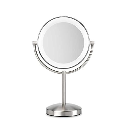 BaByliss Slimline 9437E - Specchio LED con ingrandimento 1x e 8x
