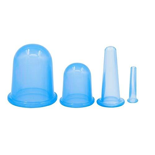 Coppettazione Coppetta Anticellulite Corpo Silicone Coppette Anticellulite Massaggio Cupping Therapy Slim Cup Cellulite Cura Dimagrante Naturale Domicilio (4 Pezzi) (Color : Blue)