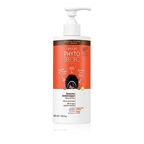 Phyto Miss Phytospecific Shampoo per Bambini per Capelli Ricci e Crespi e per il Corpo, Anti Nodi, senza Solfati, Formato da 400 ml