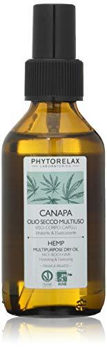 Phytorelax Laboratories Canapa Vegan & Organic - Olio Secco Multiuso Viso –Corpo -Capelli - 100Ml