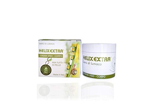 Helix Extra Crema Viso bava di lumaca antirughe antimacchie uomo donna 50 ml. E' una crema bava di lumaca sbiancante e pura per brufoli acne cicatrici smagliature occhiaie giorno notte.