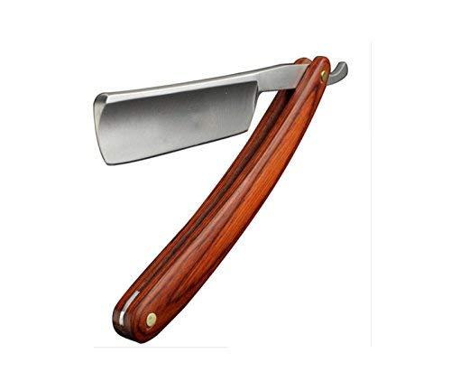 Rasoio - Lama fissa Barberia Parrucchiere Shaving Razor Lama Razor (Nero)