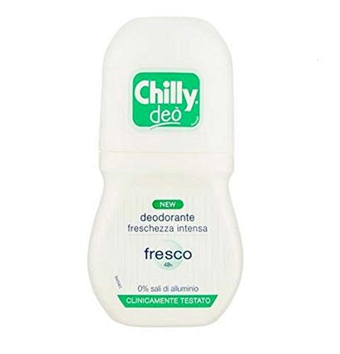 Chilly Deodorante Roll-On, Verde Fresco - 50 Ml