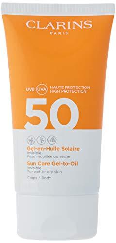 Clarins Spray Olio Protettivo Solare per Corpo e Capelli SPF 50, 150 ml
