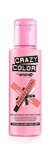 Crazy Color Crema Colorante Vegetale per Capelli , Peachy Coral - 100 ml