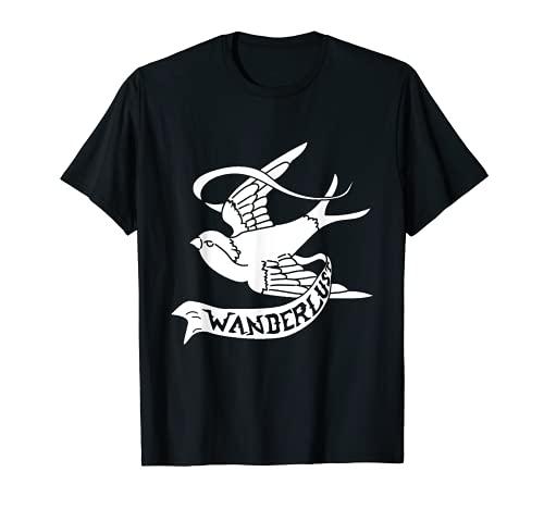 Rondine Wanderlust Bird tatuaggio libertà regalo Maglietta