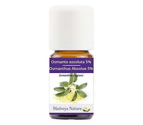 Maitreya Natura Olio Essenziale OSMANTO 100% puro e naturale, 5ml - aromaterapia, diffusore, massaggio, cosmetica - qualità controllata e certificata, vegan