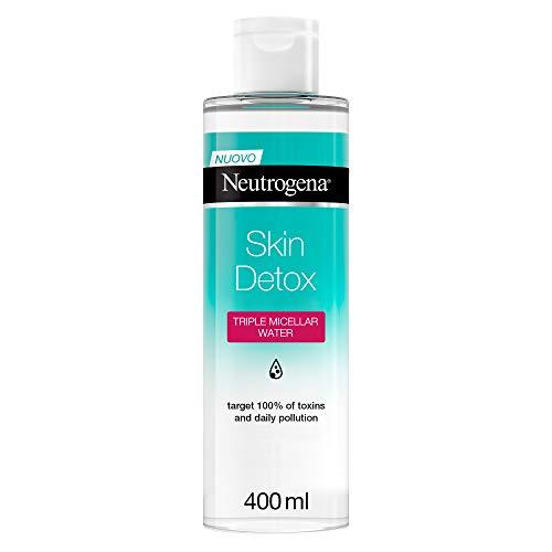 Neutrogena Acqua Micellare, Skin Detox, Tripla Azione, 400 ml