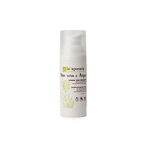 La Saponaria, Crema viso idratante aloe vera e argan (50ml)