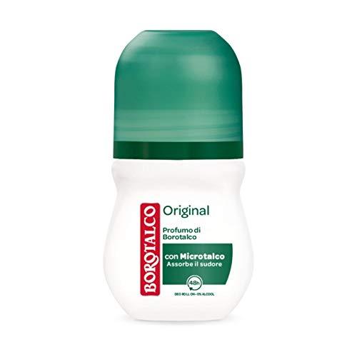 Borotalco Roberts, Original, deodorante roll-on senza alcol, 50 ml, 6 pezzi