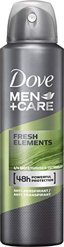 Deodorante spray Dove Men+Care Freschi Elementi anti-traspirante, confezione da 6 (6x 150ml)