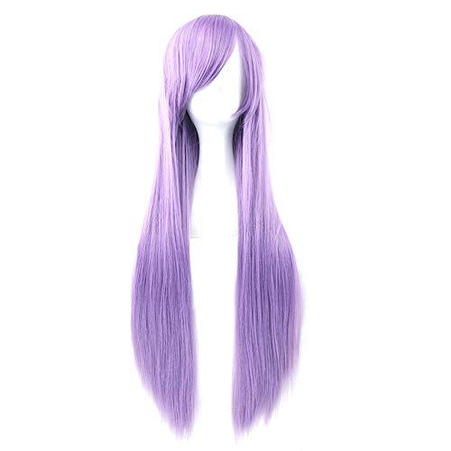 Milopon - Parrucca da donna, naturale, lunga, per cosplay, colore: viola