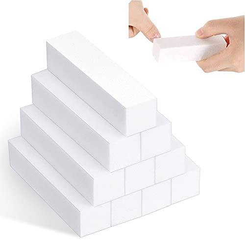 10pcs professionale Nail Art Buffer Blocco Cura Suggerimenti Levigatura File Strumento, Bianco Buffer Blocco per Manicure
