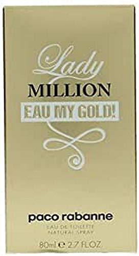 Paco Rabanne, Lady Million Eau My Gold Eau de Toilette, Donna, 80 ml