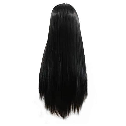 Lace Front parrucche capelli umani parrucche, lisci capelli umani chiusura del merletto parrucche parrucca naturale colore nero Hairline Beaty Donne (24inch) parrucchiere Strumento