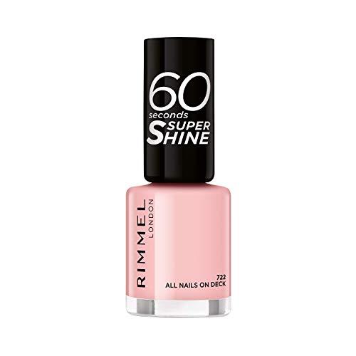 Rimmel 60 Seconds Super-Shine Nail Polish, All Nails On Deck - 0.03 Ml