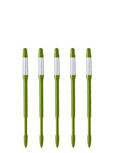 SUS tee Aquameter (Set di 5 Pezzi), Indicatore di irrigazione per Piante, Facile da Usare, Previene l'avvizzimento delle Piante, Non necessita di batterie, 100% Prodotto in Giappone (Medio, Verde)