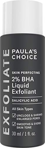Paula's Choice Skin Perfecting Esfoliante Viso Liquido 2% BHA - Peeling Combatte i Brufoli, i Pori Dilatati e i Punti Neri - con Acido Salicilico - Pelli Miste o Grasse - Formato da Viaggio 30 ml