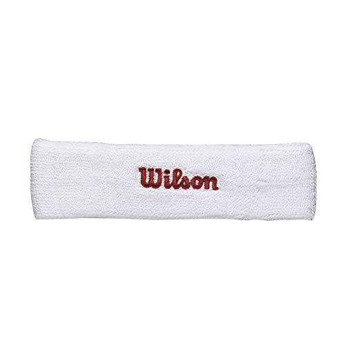 Wilson WR5600110 Fascia da Tennis, in Spugna, Taglia Unica, Bianco