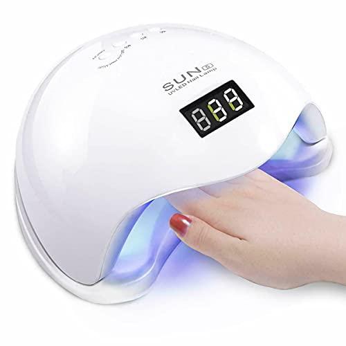 SQUADO® Fornetto Unghie,LAMPADA UV UNGHIE,Semipermanente LED Per Manicure Pedicure con Display,lampada unghie Professionale,Sensore Automatico ASCIUGA SMALTO, doppia potenza 48W/54W