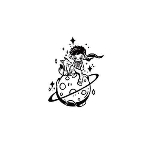 JZLMF Adesivi per tatuaggi dell'amore del piccolo principe alle erbe aromatiche, resistenti all'acqua e durevoli, per due settimane, netti adesivi per tatuaggi